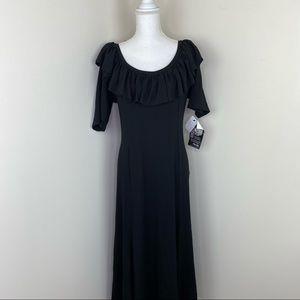 Gayla Bentley Ballet Neck Dress Black Size 2X